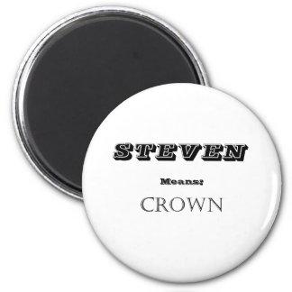 Steven 2 Inch Round Magnet