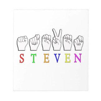STEVEN ASL NAME SIGN FINGERSPELLED NOTEPAD