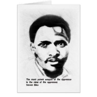 Steven Biko freedom fighter Greeting Card