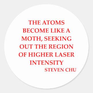 steven chu quote sticker