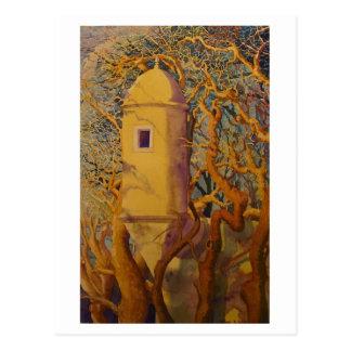 Steven Givler watercolor, Portuguese fort Postcard