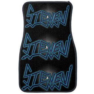 Steven Name Blue Letters Floor Mat