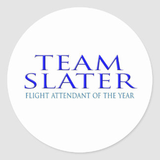 Steven Slater Flight Attendant Gifts Round Stickers