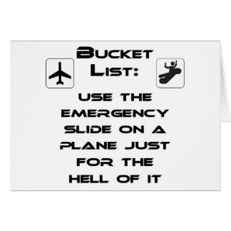 Steven Slater Inspired Bucket List Shirt Card