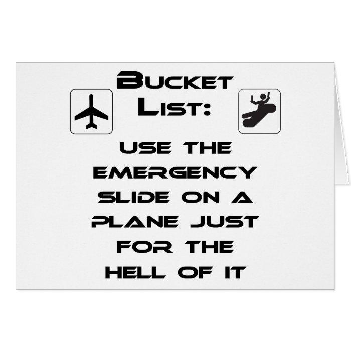 Steven Slater Inspired Bucket List Shirt Card