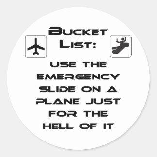 Steven Slater Inspired Bucket List Shirt Stickers