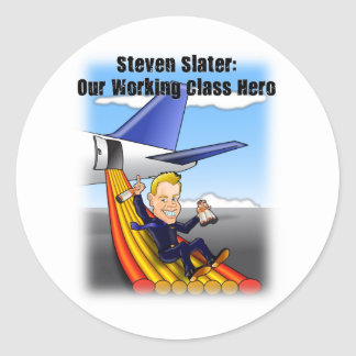 Steven Slater: Our Working Class Hero Round Sticker