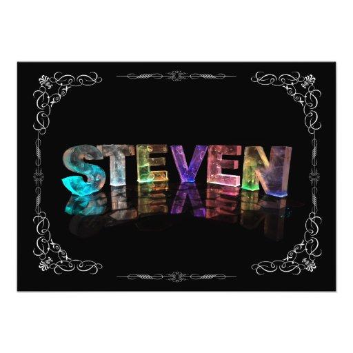 Steven  - The Name Steven in 3D Lights (Photograph
