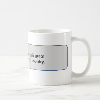Steven Wright Quote Cross country skiing is great Coffee Mugs
