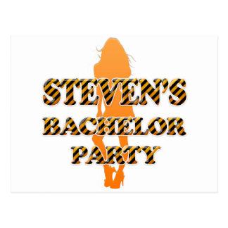 Steven's Bachelor Party Postcard