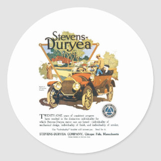 Stevens Duryea Company Classic Round Sticker