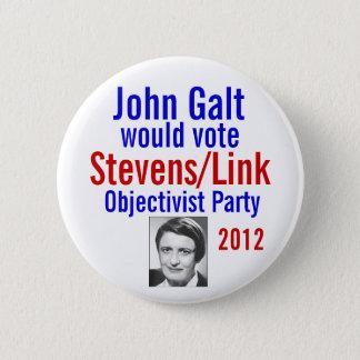 Stevens/Link Objectivist Pary 2012 Pinback Button