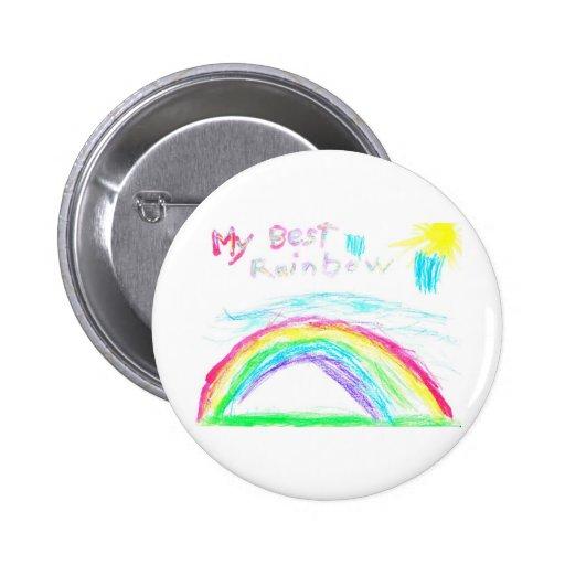 Steven's Rainbow Pinback Button