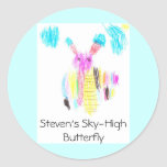 Steven's Sky-High Butterfly Classic Round Sticker
