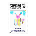 Steven's Sky High Butterfly Postage Stamps