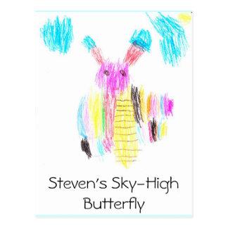 Steven's Sky-High Butterfly Postcard