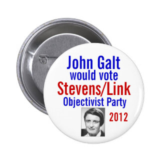 Stevens/vínculo Objectivist Pary 2012 Pins