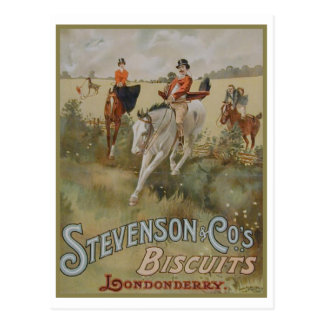 Stevenson Cos Biscuits Londonderry Ad Post Card