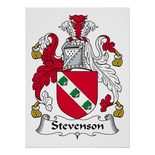Stevenson Family Crest Poster