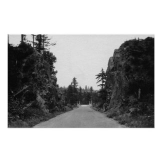 Stevenson Pass, WA View North Bank Highway Poster