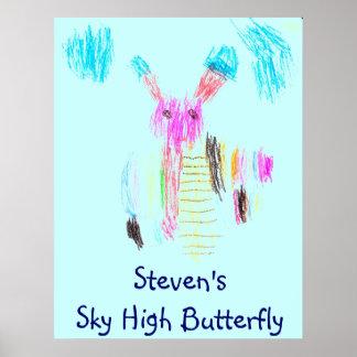 Steven'sSky High Butterfly poster