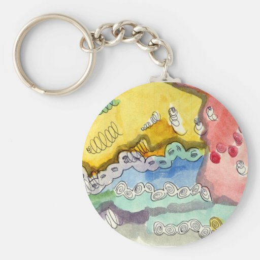 Steve's Abstract Doodle Basic Round Button Keychain