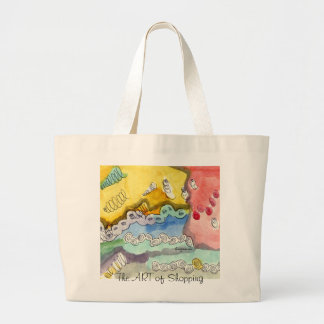 Steve's Abstract Doodle Canvas Bags