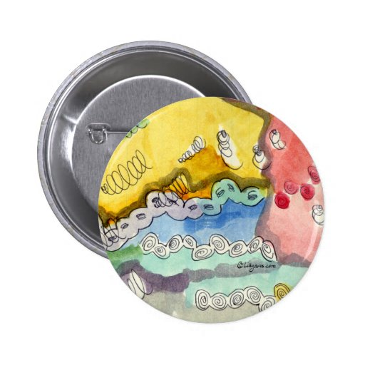 Steve's Abstract Doodle Pinback Button