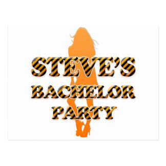 Steve's Bachelor Party Postcard