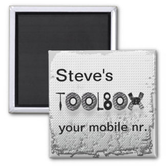 Steve's toolbox 2 inch square magnet