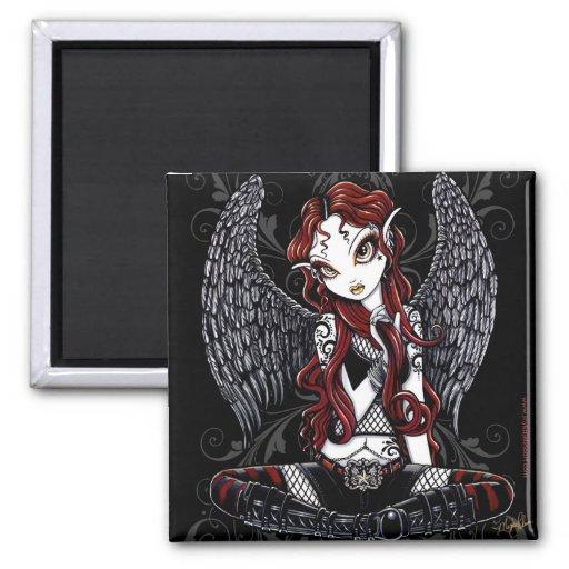 """Stevie"" Gothic Tattoo Angel Magnet"