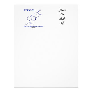 Steviol (Chemistry) Just Call Me Naturally Sweet Personalized Letterhead
