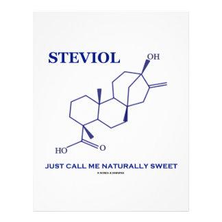 Steviol (Chemistry) Just Call Me Naturally Sweet Letterhead Design