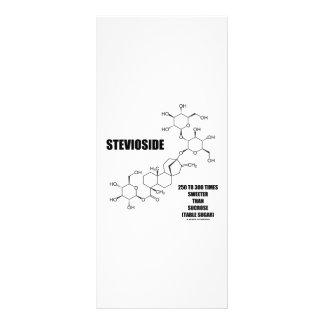 Stevioside 250 To 300 Times Sweeter Than Sucrose Rack Card Design
