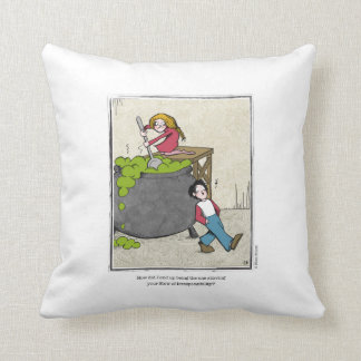 STEW cartoon by Ellen Elliott Throw Pillow