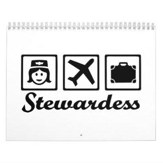 Stewardess airplane calendar
