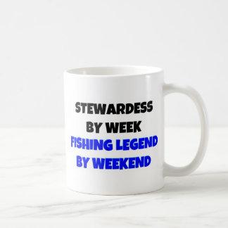 Stewardess by Week Fishing Legend By Weekend Coffee Mug