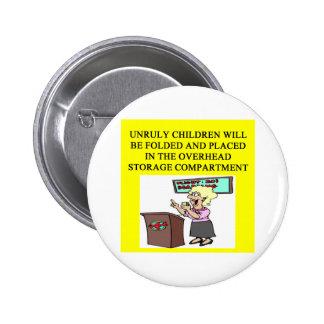 stewardess joke 2 inch round button