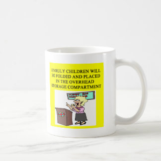 stewardess joke classic white coffee mug