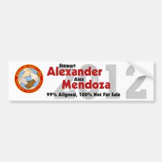 Stewart Alexander 2012 Bumper Sticker #5