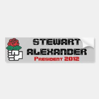 Stewart Alexander for Pres. 2012 (Socialist Party) Bumper Sticker