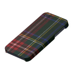 Stewart Black Modern Tartan iPhone 5/5S Case