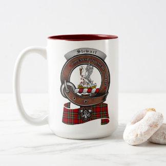 Stewart Clan Badge Two Tone 15oz Mug