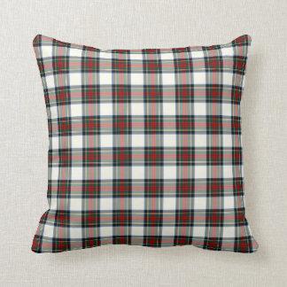Stewart Clan Formal Dress Tartan Colorful Plaid Throw Pillow