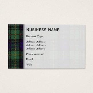 Stewart clan Hunting Plaid Scottish tartan Business Card