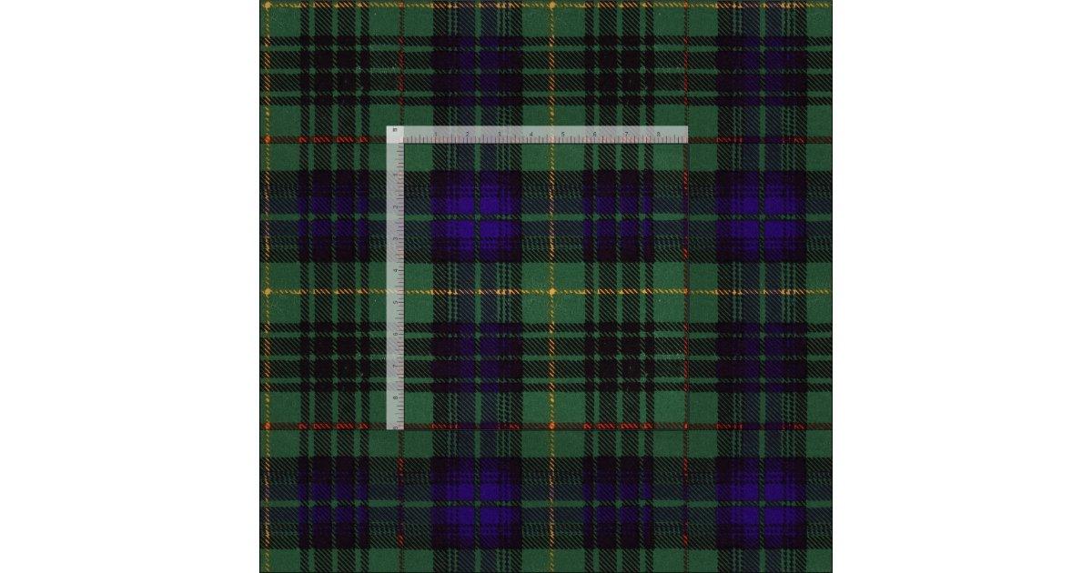 Stewart clan Hunting Plaid Scottish tartan Fabric | Zazzle.com