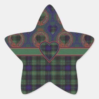 Stewart clan Hunting Plaid Scottish tartan Star Sticker