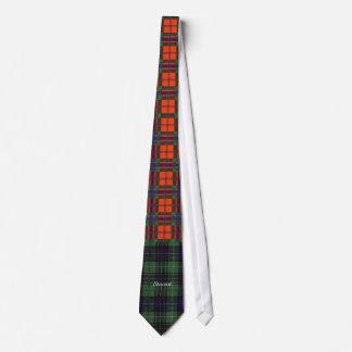 Stewart clan Hunting Plaid Scottish tartan Tie