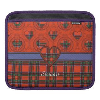 Stewart clan Plaid Scottish tartan Sleeve For iPads