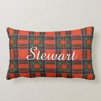 Stewart clan Plaid Scottish tartan Lumbar Pillow